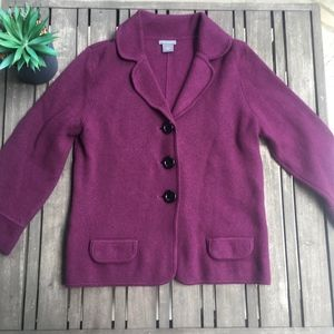 Ann Taylor Purple Knit Blazer/Cardigan - S